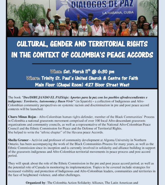 Cultural, Gender and Territorial Rights in the context of Colombia's Peace Accords