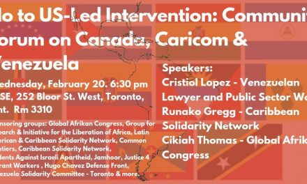 No to U.S-Led Intervention: A Community Forum