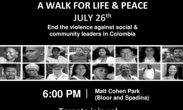 A walk for Life and Peace in Colombia