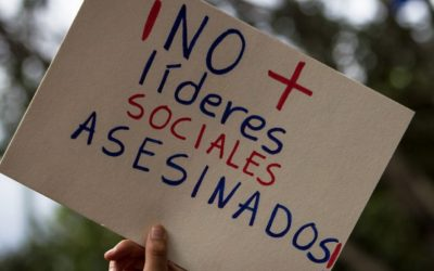 Protests are organized in 58 cities around the world for Friday to protest against the mass killing of Colombia's human rights defenders.