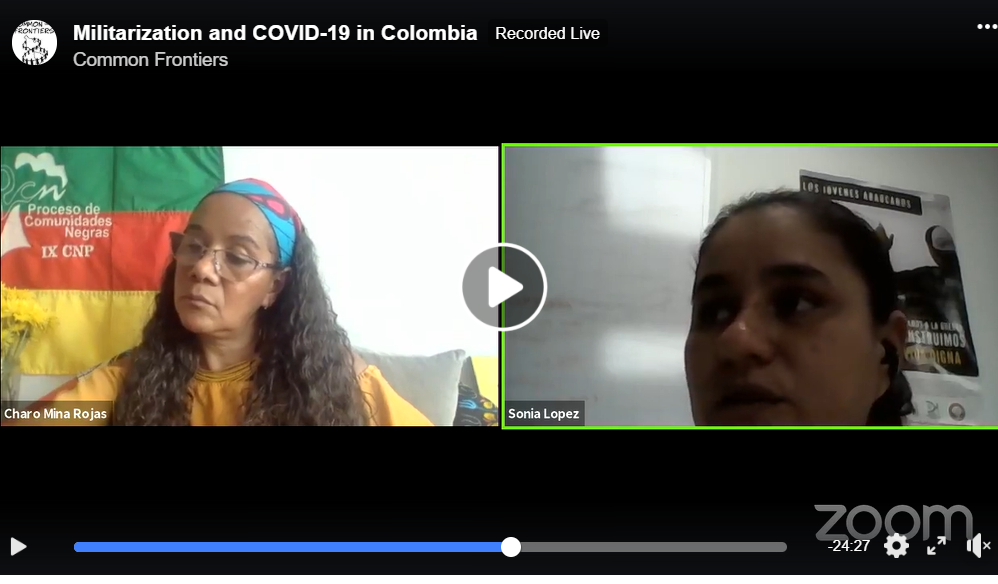 Militarization and COVID-19 in Colombia- Video