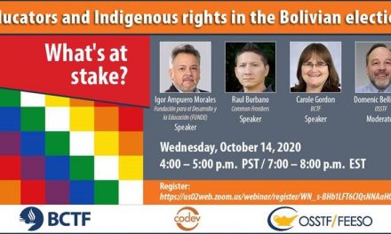 Webinar Public Education, Indigenous Rights, Bolivia
